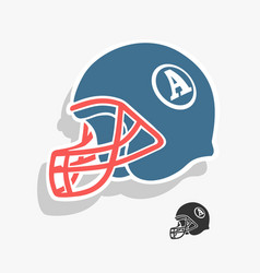 helmet american football vector image