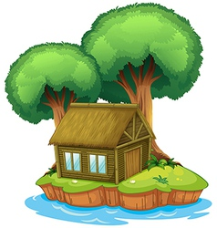 House on an island vector