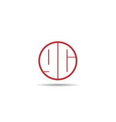 initial letter gc logo template design vector image