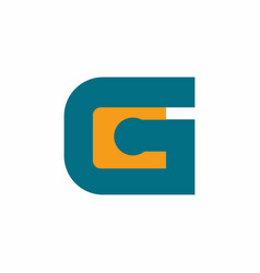 initial letter gc or cg logo design template vector image