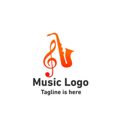 Jazz music logo vector