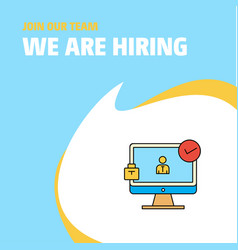 join our team busienss company avatar on monitor vector image
