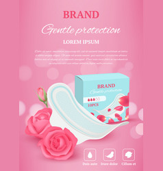 ladies tampon ads woman hygiene products vector image