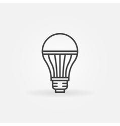 LED lightbulb icon vector