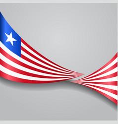 Liberian wavy flag vector