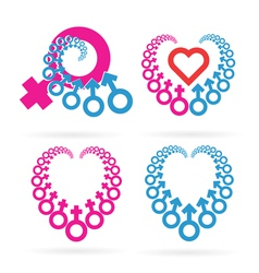 Male and Female Symbols Set vector image