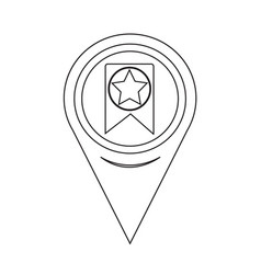 map pointer web bookmark ribbon icon vector image
