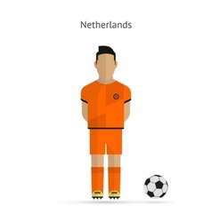 National football player Netherlands soccer team vector image
