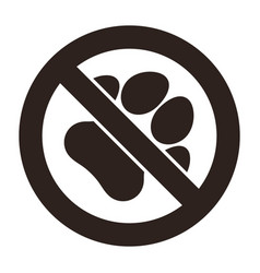 no pets sign vector image
