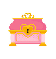 Pink chest on white background vector