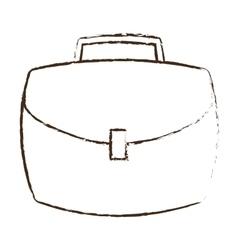 Portfolio suitcase business icon sketch vector