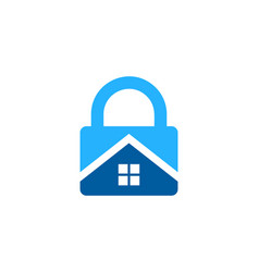 property security logo icon design vector image