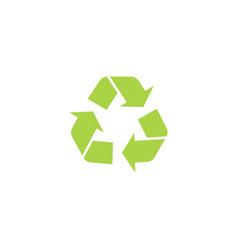 recycle triangle icon with arrows in a flat style vector image