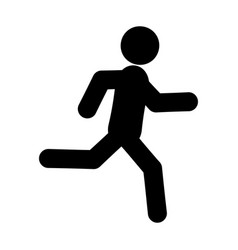 running glyph icon vector image