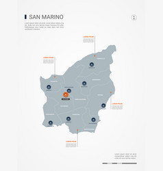 san marino infographic map vector image