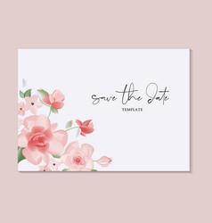 Save date hand-drawn card botanical wedding vector