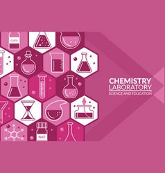 scientific laboratory research creative banner vector image