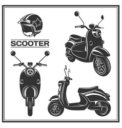 Scooter silhouette set vector