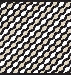 Seamless geometric pattern monochrome wavy vector