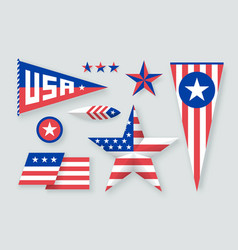 set usa symbols and design elements vector image