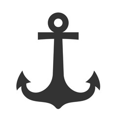 ship anchor black icon sailing vintage design vector image