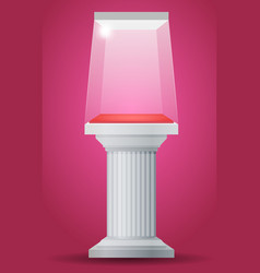 showcase on column pedestal vector image