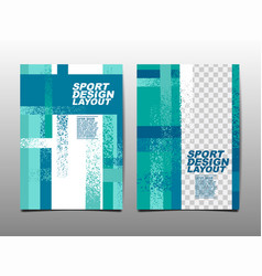 sport design layout template design vector image
