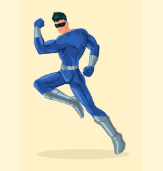 Superhero wearing visor vector