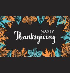 Thanksgiving typography hand drawn lettering vector