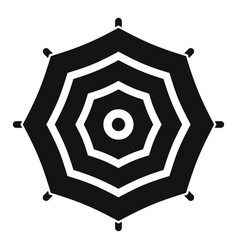 Top view umbrella icon simple style vector