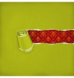 Torn paper green vector