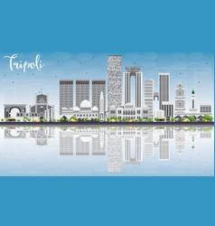 Tripoli Skyline with Gray Buildings vector image