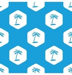 Vacation hexagon pattern vector image