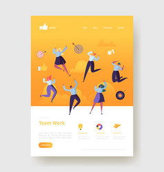 website development landing page template poster vector image