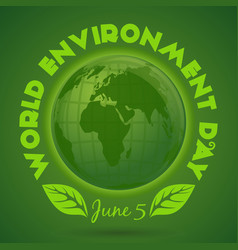 World environment day card june 5 vector