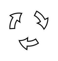 Arrows cycle round process direction outline vector