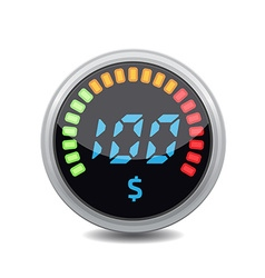 Credit indicators digital vector image