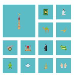 flat icons prayer carpet ramadan kareem muslim vector image