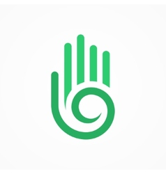 hand with a spiral symbol vector image