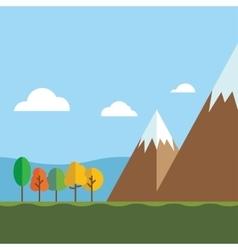 Mountain ranges and scenic scenes vector