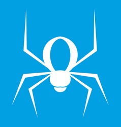 Spider icon white vector