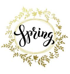 spring handwritten black brash pen summering vector image vector image