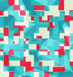 abstract blue squares seamless pattern vector image
