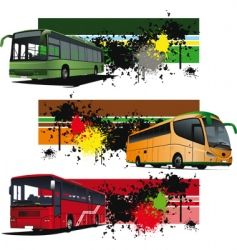 bus banners vector image vector image