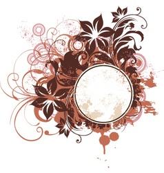 grunge tropical frame vector image