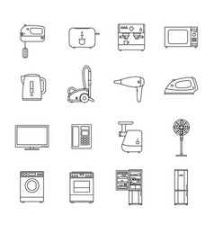 home household appliances vector image