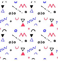 nursery geometric seamless pattern in vector image vector image