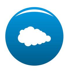 Overcast icon blue vector