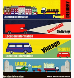 Retro Auto Delivery Web Banners vector image vector image