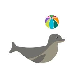 Sea Dog Performing vector image vector image